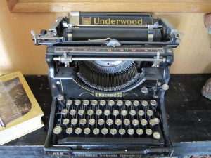 Social Media Old School - Classic Underwood typewriter at the Jefferson County Historical Society Museum in Madras, Oregon