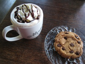 What's on the menu? Cocoa, cookie and freshly baked book?