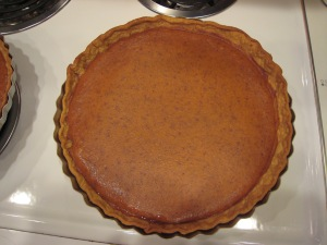 The classic Libby's recipe pumpkin pies from my very own kitchen. Can you smell the joy?