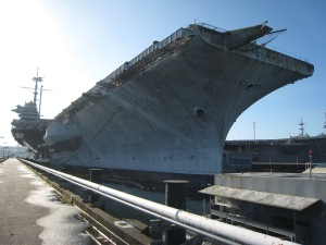"My favorite photo I took of the great Gray Lady, USS Ranger, in January 2012. She is truly the ""Top Gun of the Pacific."""