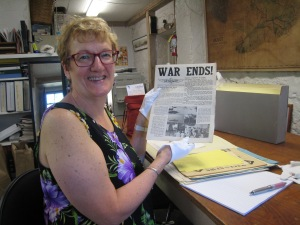 In the Museum basement reviewing archive documents with my fabulous white gloves. Hair explained by heat wave.