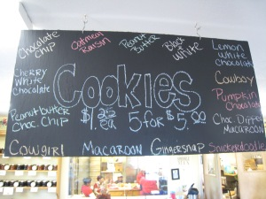 The Cookie Bar sign from Packer Orchards and Bakery in Hood River, Oregon. Or as I like to call it, Cookie Heaven!
