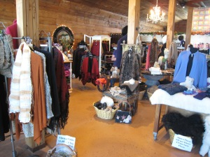 Part of the Alpaca Boutique at the Crescent Moon Ranch in Terrebonne, Oregon