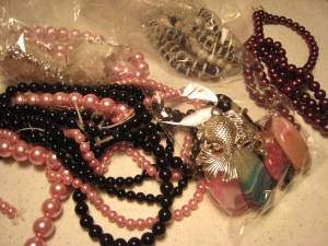Bead treasures to sort. Bring on the rains. Okay, not all the rain in one day.