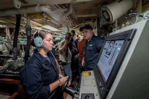Laboon is deployed in the U.S. 5th Fleet area of operations in support of maritime security operations designed to reassure allies and partners and preserve the freedom of navigation and the free flow of commerce in the region